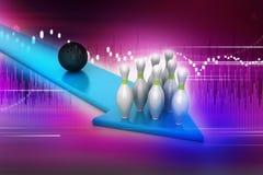 Bowling ball target concept Stock Photos