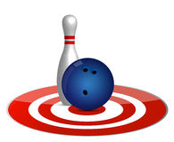 Bowling ball target concept Royalty Free Stock Photos