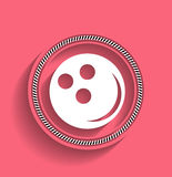 Bowling ball vector icon modern flat icon Royalty Free Stock Photography