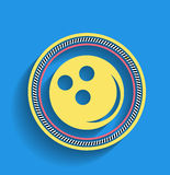 Bowling ball vector icon modern flat icon Stock Image