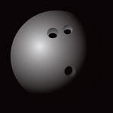 Bowling ball web icon. Close up picture of a bowling ball icon Royalty Free Stock Photos