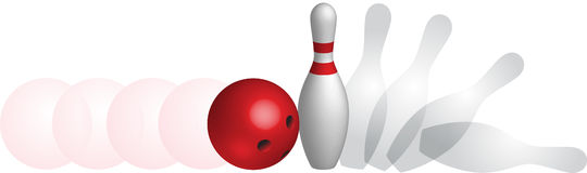 Bowling ballistics Royalty Free Stock Photography