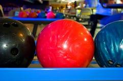 Bowling Balls. Close-up of bowling balls at a bowling alley Royalty Free Stock Photo