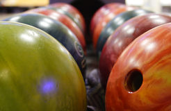 Bowling balls Stock Images