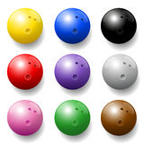 Bowling Balls Colors Set Stock Images