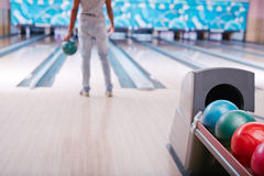 Bowling balls Stock Photo