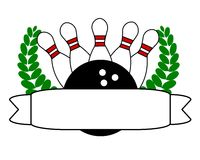 Bowling and banner Stock Image