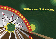Bowling banner Royalty Free Stock Image