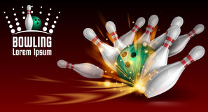 Bowling banner Royalty Free Stock Photos