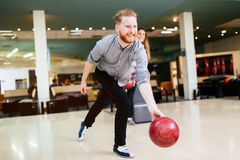 Bowling beau d'homme Photos stock