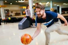 Bowling beau d'homme Image libre de droits