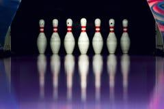 bowling Bolos en el callejón imagen de archivo libre de regalías