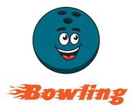 Bowling and bowling ball icon Royalty Free Stock Images