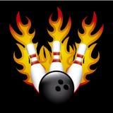Bowling. Burn over black background vector illustration Stock Images