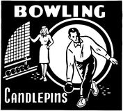 Bowling Candlepins Stock Photography