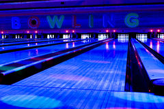 Bowling center Royalty Free Stock Images