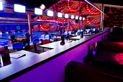 Bowling center Royalty Free Stock Photos