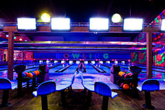 Bowling center Royalty Free Stock Image