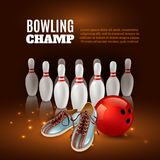 Bowling Champ 3D Illustration Stock Photography