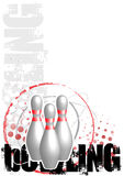 Bowling circle poster background Stock Images