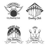 Bowling club emblem set Stock Photo