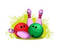 Bowling club emblem Stock Images