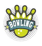 Bowling club emblem Stock Photos