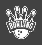 Bowling club emblem Stock Photo