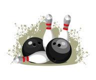 Bowling club emblem. Vector illustration emblem sports club bowling game Stock Images