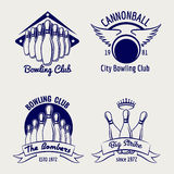 Bowling club logo design sketch Stock Images