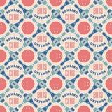 Bowling club pattern. Seamless pattern of bowling balls and ninepins. Editable  illustration Royalty Free Stock Image