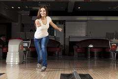 At bowling club Royalty Free Stock Photos