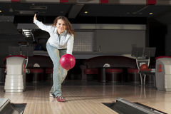 At bowling club Stock Photography