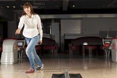 At bowling club Stock Photo