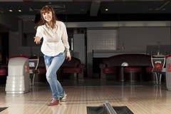 At bowling club Royalty Free Stock Photo