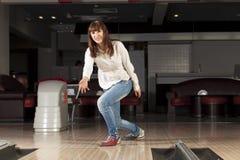 At bowling club Royalty Free Stock Image