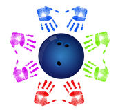 Bowling community concept Stock Image