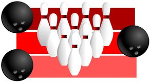Colorful Bowling illustration Stock Photography