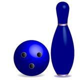 Bowling concept Royalty Free Stock Image