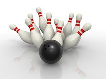 Bowling concept Stock Image