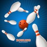 Bowling Concept. Vector Stock Photos