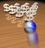 Bowling d'argent Photographie stock libre de droits