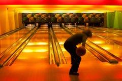 Bowling da mulher Fotografia de Stock
