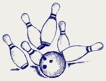 Bowling de croquis Photographie stock libre de droits