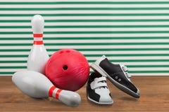 Bowling de diez Pin Fotografía de archivo libre de regalías