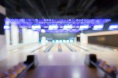 Bowling de tache floue Photographie stock
