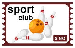 Bowling del biglietto illustrazione vettoriale