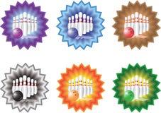 Bowling dell'emblema Fotografia Stock Libera da Diritti