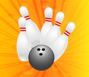 Bowling design Stock Images