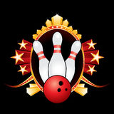 Bowling design Stock Image